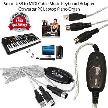 Vera 6 ft 2 M, USB A MIDI Piano Teclado de Música Convertidor de ...