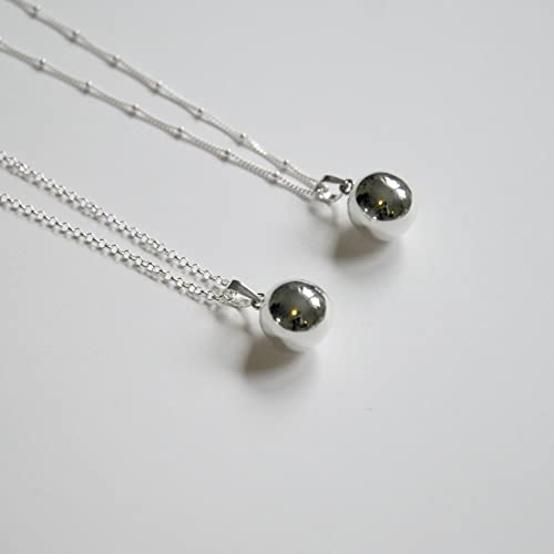 Amazon sterling silver harmony ball necklace satellite or sterling silver harmony ball necklace satellite or rolo chain littleglamour delilah aloadofball Gallery