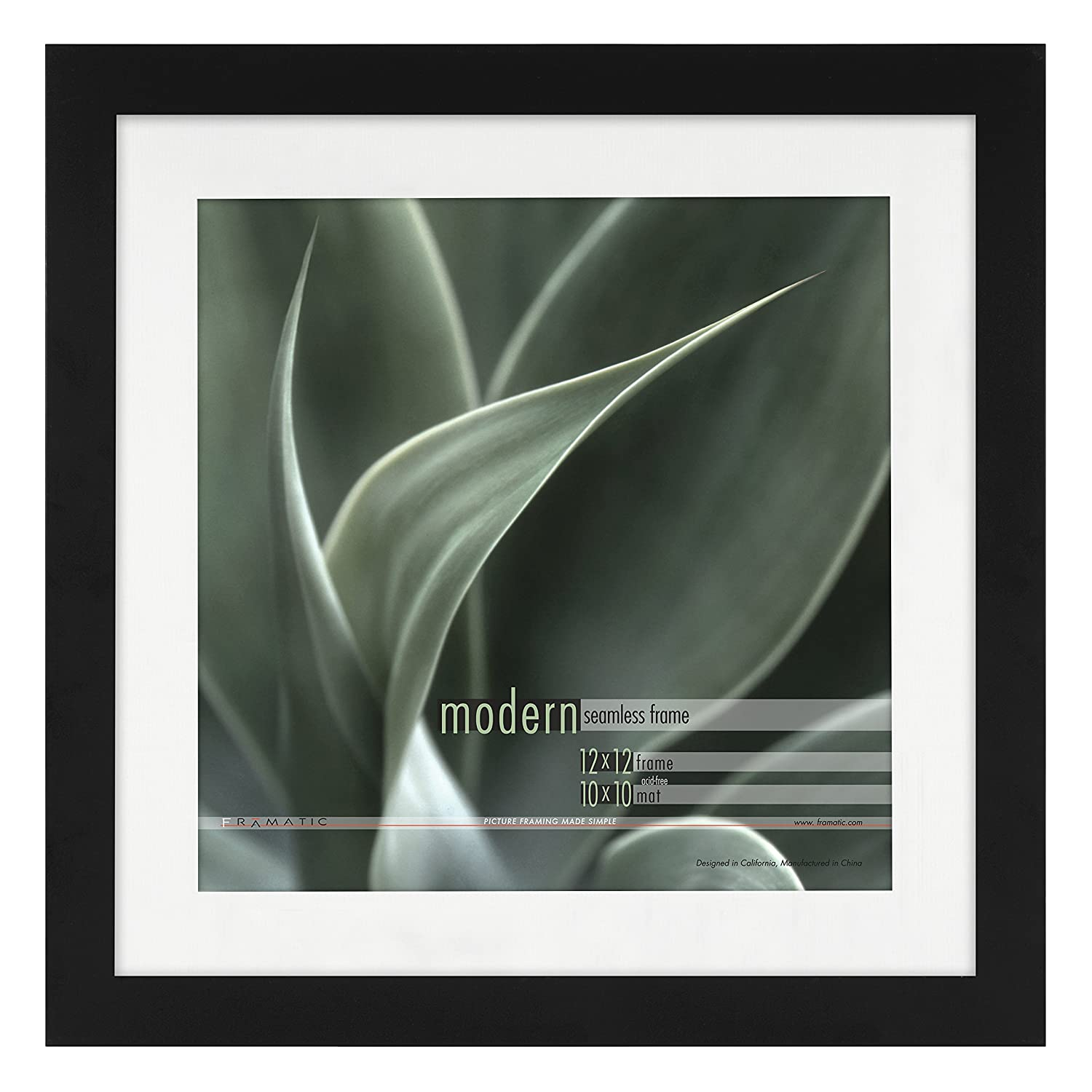 Amazon.com - Framatic Modern 12x12 Inch Frame Matted for 10x10 Inch ...