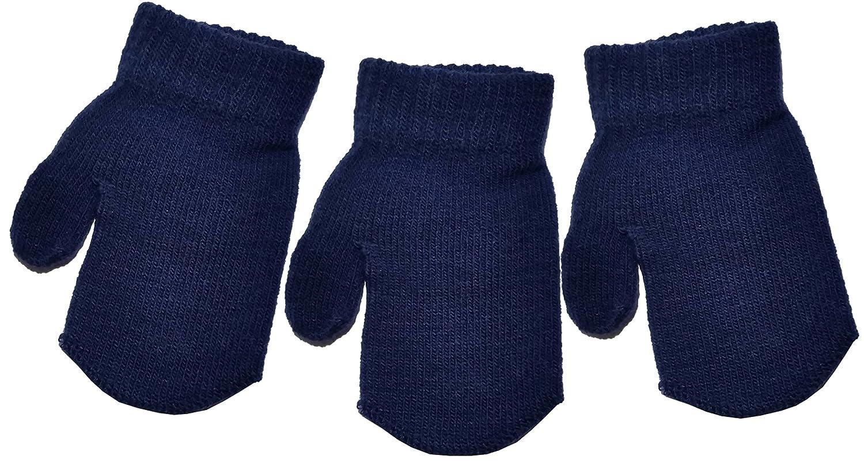 PETIT ENFANT MAGIQUE Mitaines Couleurs Vari/ées Taille unique unisexe acrylique 3 paires de b/éb/é