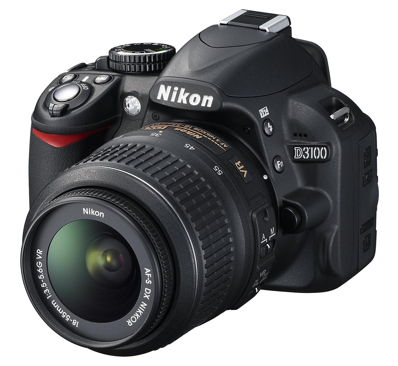 """Nikon D3100 - Cámara réflex digital de 14.2 Mp (pantalla 3"""", estabilizador  óptico, vídeo Full HD), color negro: Amazon.es: Electrónica"""
