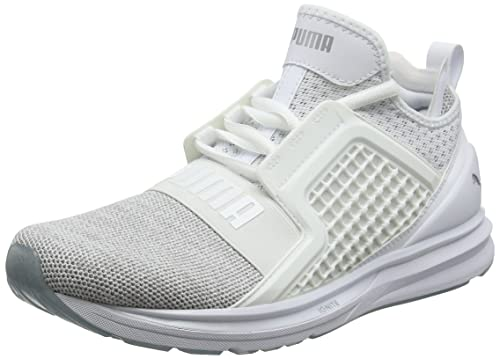 b81b68e0e79eb6 Puma Men s Ignite Limitless Knit White Silver Running Shoes-10.5 UK India  (45