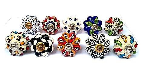 Apex Outlet Handmade Multicolore In Ceramica Pomelli Per Armadi E