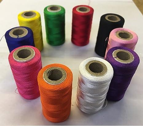 Juego de 10 bobinas de hilos de bordar de seda para máquina de coser Brothe,