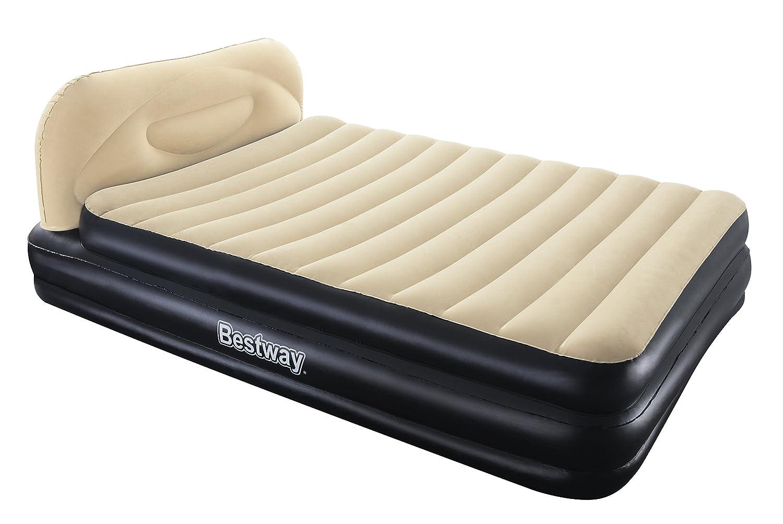 Bestway - Cama de aire doble con cabecero, 226 x 152 x 74 cm ...