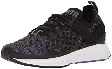 55da1097aec PUMA Women s Ignite Evoknit Lo WN s Cross-Trainer Shoe Black-Electric Purple -Quiet
