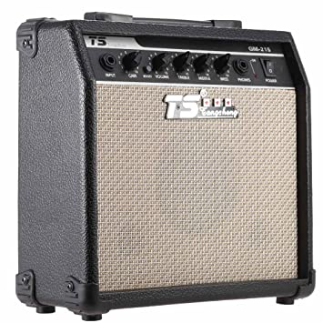 """ammoon®GM-215 Guitarra Eléctrica Amplificador Overdrive Amp Profesional 5"""" Altavoz con Ecualizador"""