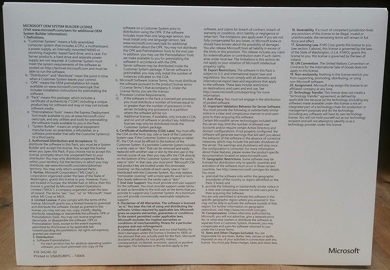Windows 10 Professional OEM 64 Bit DVD English Language | Full Product by Operating System (Image #2)