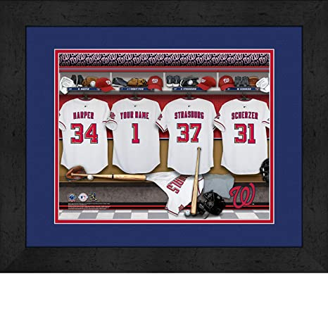 9fda93e6e22 Amazon.com   Washington Nationals Personalized MLB Baseball Locker ...