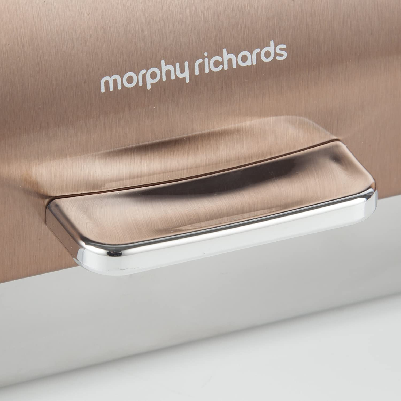 Crema 25 x 38.5 x 19 cm Morphy Richards Panera con Tapa Superior abatible 46240 Accents Acero Inoxidable