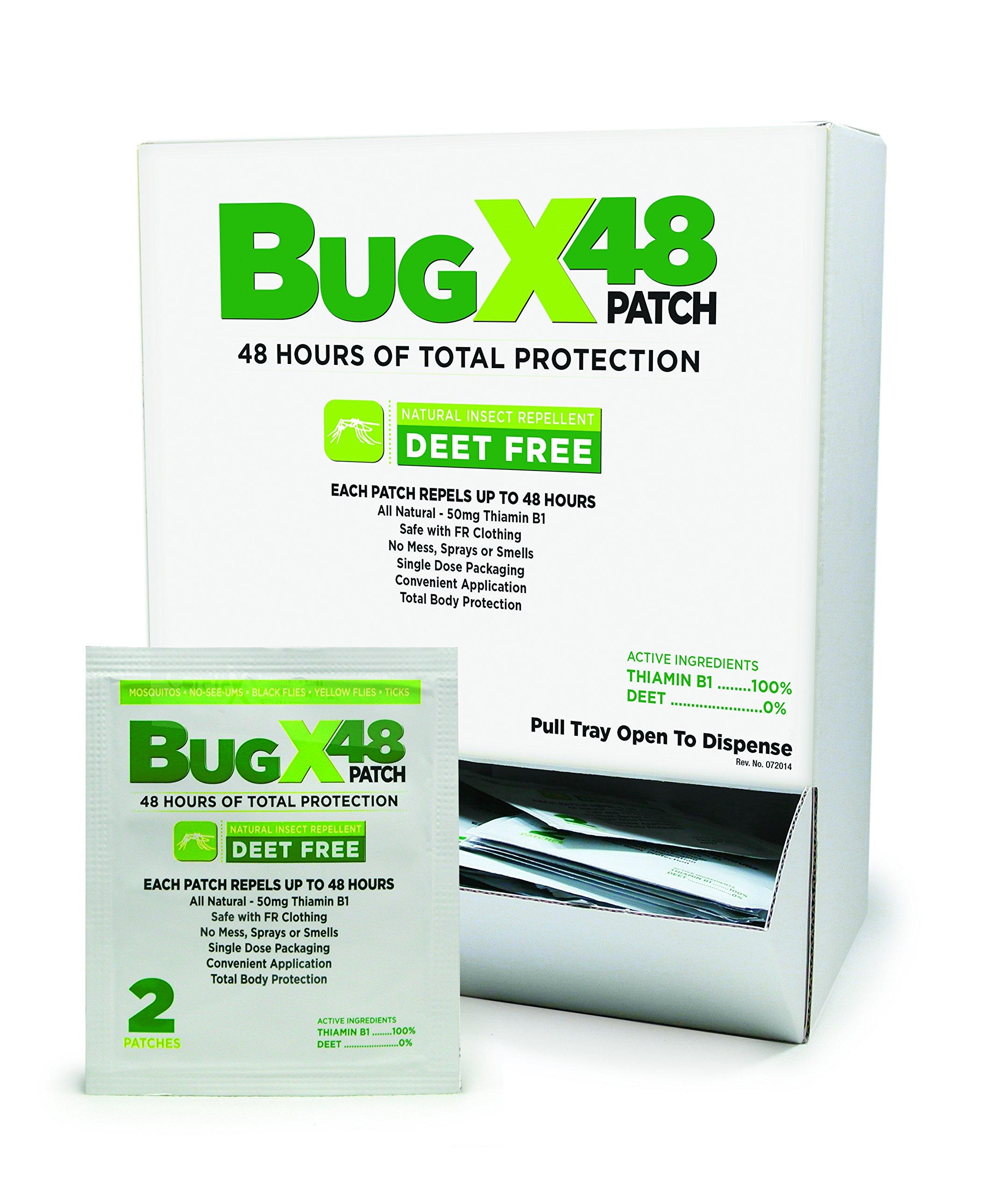 CoreTex 13840 BugX 48 Patch Natural Repellent -Clamshell Dispenser 2/BXS/CS
