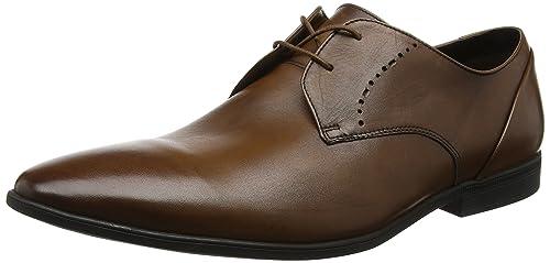 Clarks Bampton Lace, Scarpe Stringate Derby Uomo, Marrone (Tan Leather),  39.5