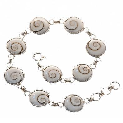 80cef54274 Bella Carina Damen Armband mit 9 Shiva Augen 19 - 21 cm, 925 Sterling Silber