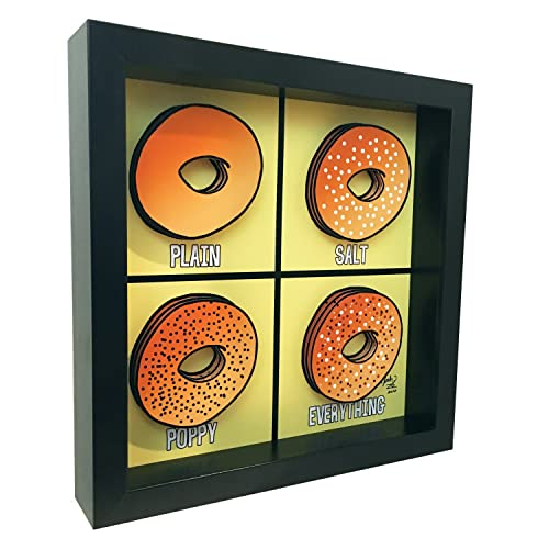 Amazon.com: Kitchen Decor Bagel 3D Art Breakfast Print Kitchen Wall ...