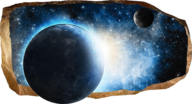 Startonight 3d壁画壁アート写真Decor Cosmos Amazingデュアル表示Surprise Large 32.28インチby 59.06インチ壁壁画壁紙用リビングルームや寝室スペースコレクション壁アート  B01F4E3V2K