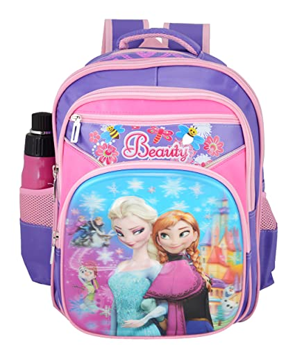 c695dbb79c3 Image Unavailable. Image not available for. Colour  Disney Polyester 28 L  Purple School Bag for Girls