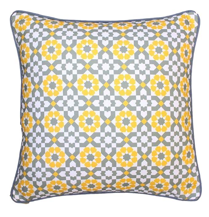 Amazon.com: 16.9 x 16.9 inch diseño geométrico azulejos ...