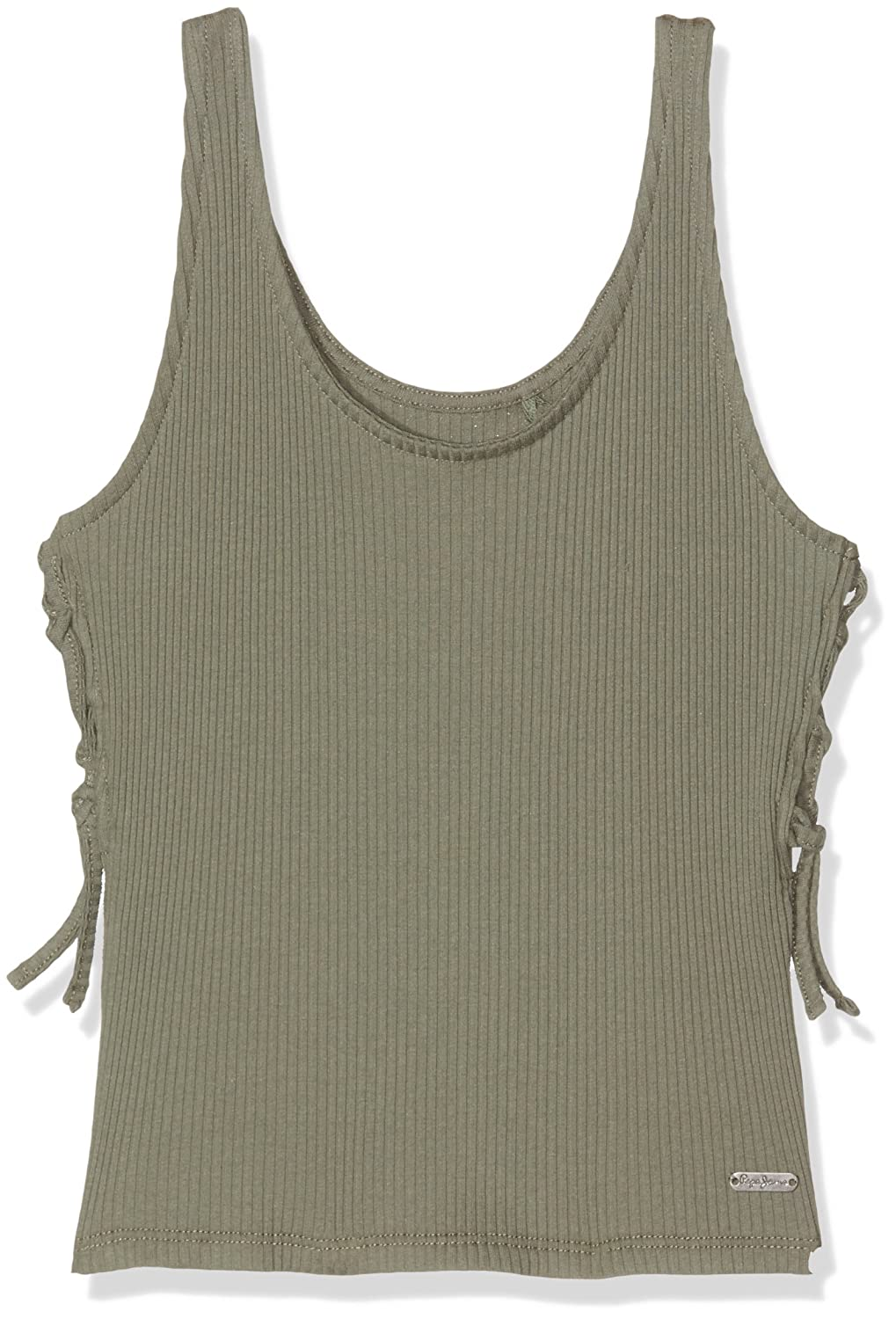Pepe Jeans Girl's Cristina Teen Vest Girl' s Green (Army) 12 Years XS