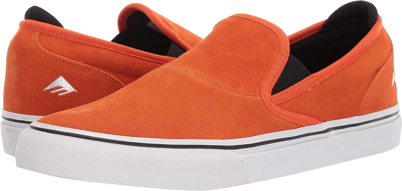 Emerica Wino G6 Slip On Mens Black Suede Skate Sneakers Shoes
