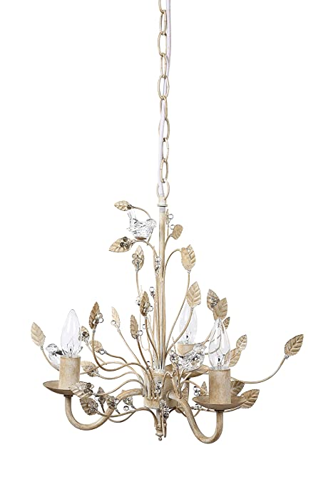 Amazon creative co op metal chandelier with glass birds 16 creative co op metal chandelier with glass birds 16quot length by 1575quot aloadofball Choice Image