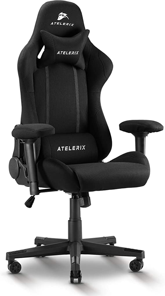 Atelerix Ventris Noir Gaming Chair - Use as Desk