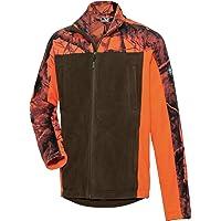 Wald & Forst - Chaqueta de forro polar para hombre, color naranja y verde