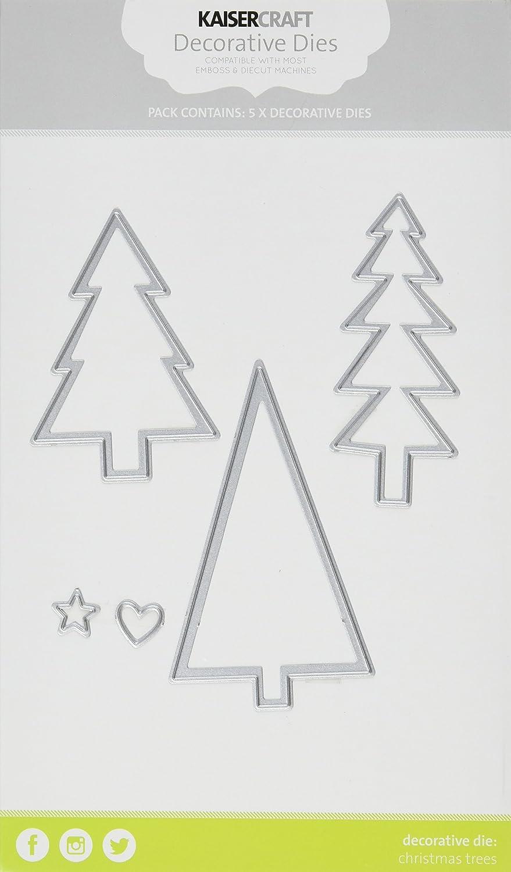 Kaisercraft Die-Christmas Word Tree Tree Tree 4.75