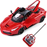 SumacLife Full Function Remote Controlled Red Exotic Super Sport Race Car RC Toy 1:16 Scale