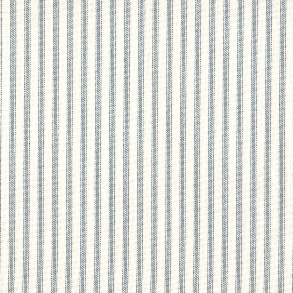 French Country Dove Gray Ticking Stripe 75 x 84 inch Cotton Shower Curtain, Unlined