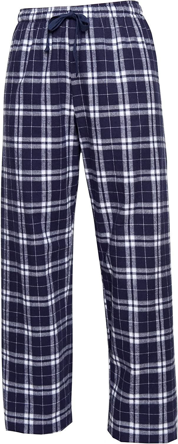 Boxercraft Cotton Flannel Pant with HTC Care Guide by HTC, Navy/Silver-M