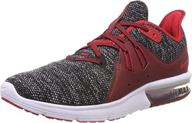 Nike Air Max Sequent 3 Men's Running Shoe (11.5 D(M) US, BlackUniversity RedWhite)