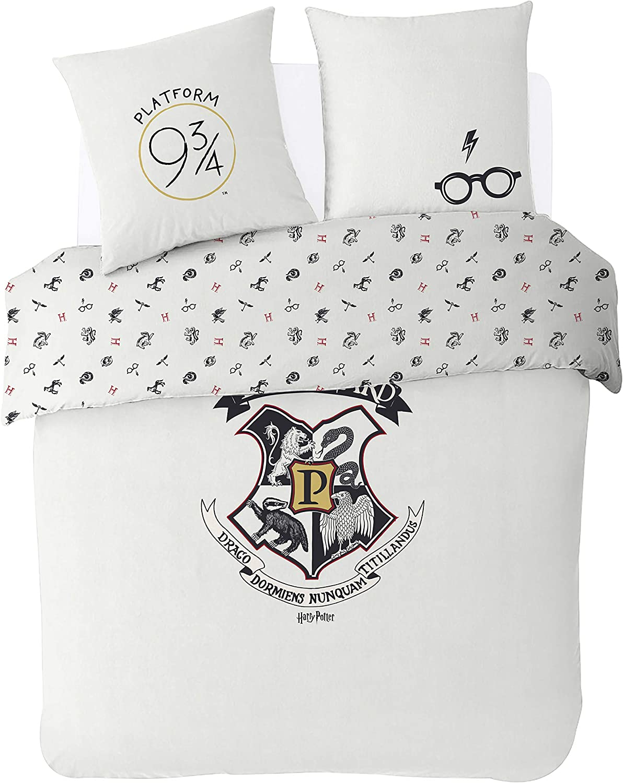 200x200 cm Warner Harry Potter Duvet Cover Set Ecrue