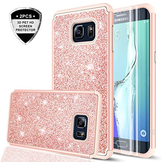 amazon com galaxy s6 edge case (not fit galaxy s6) with 2 pack 3dgalaxy s6 edge case (not fit galaxy s6) with 2 pack 3d pet screen