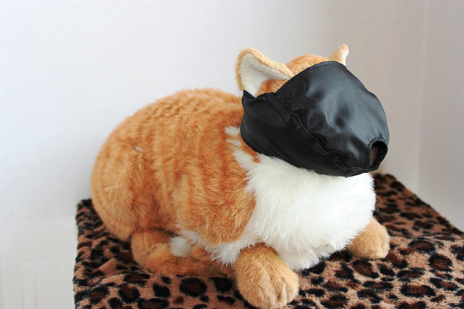 ff33277ffcf Amazon.com : Cat Muzzle - MEDIUM fits cats 6 - 12 lbs - BLACK, by Downtown  Downtown Pet Supply : Pet Supplies