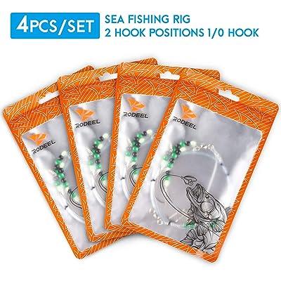 2 hook flappers flatty rigs 5 Sea fishing Rigs 1//0 hooks