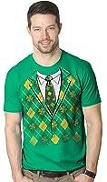 Plaid Green Tuxedo T Shirt Funny Saint Patricks Day Tee