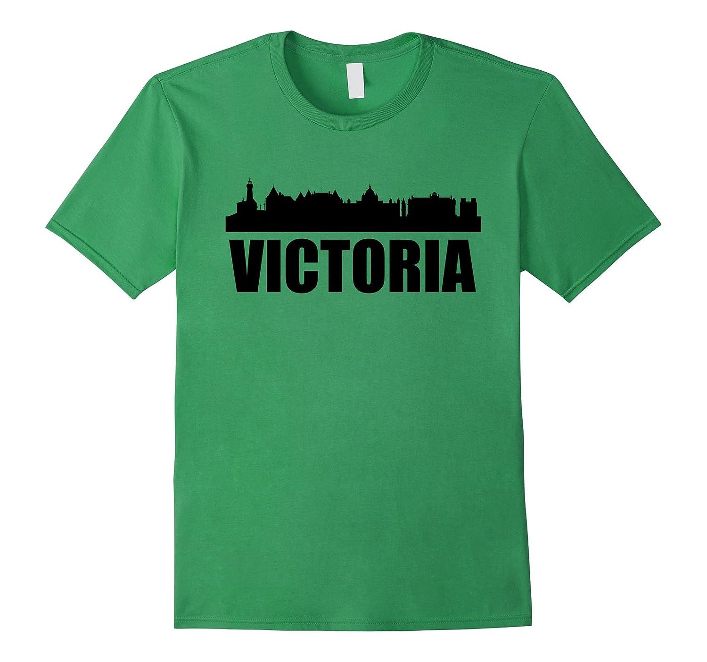 Skyline Of Victoria British Columbia T-Shirt-BN