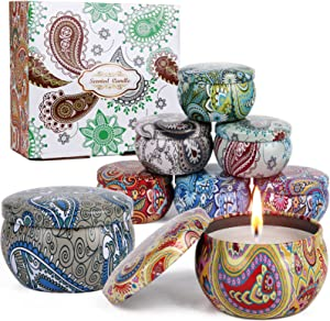 Scented Candles Gift Set for Mothers Day Gifts 8 Pack Aromatherapy Candles Gifts for Mom 2.5 oz Use for Meditation, Bath, Yoga, Sleep, Home Decoration, Romantic Gifts for Women