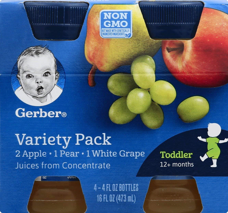 Gerber, Juice Variety Pack, 16 oz (pack of 4)