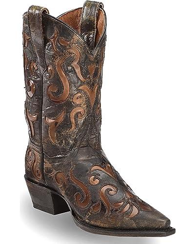 "Dan Post Women's Women'S 12"" Waxy Underlay Western Boot Pointed Toe - Dp3735"