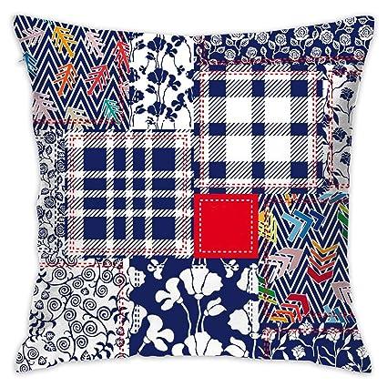 Amazon.com: Feim-AO Patchwork Decorative Throw Pillow Square ...
