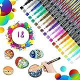 18 Colores Rotuladores de Pintura Acrílica Rotuladores Permanentes de Colores Rotuladores Acrilicos Permanentes Pintura…