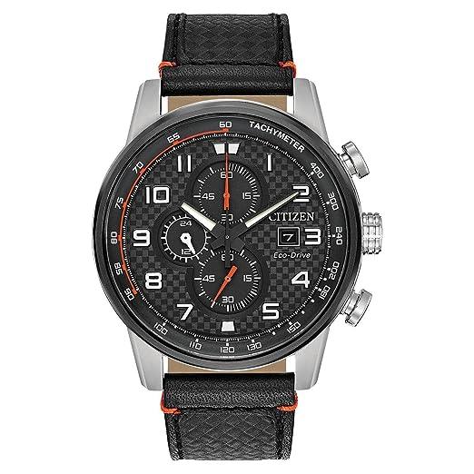 Citizen Primo Reloj de hombre eco-drive 45mm correa de cuero CA0681-03E: Amazon.es: Relojes