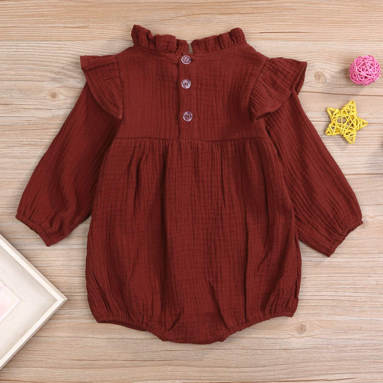 YOUNGER TREE Toddler Baby Summer Clothes Girl Ruffled Collar Sleeveless Romper Jumpsuit Clothes
