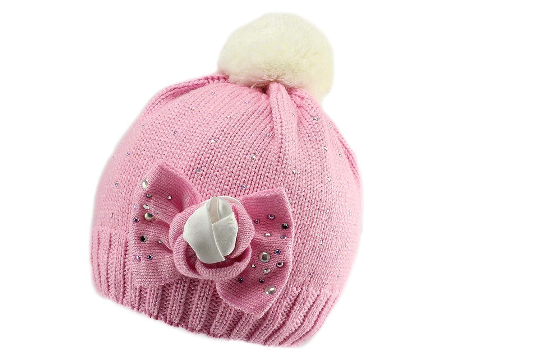 Tutu Girls Warm Elegant Winter Pom Pom Beanie Hat
