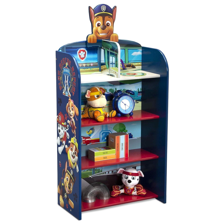 Delta Children Wooden Playhouse 4-Shelf Bookcase for Kids, PAW Patrol