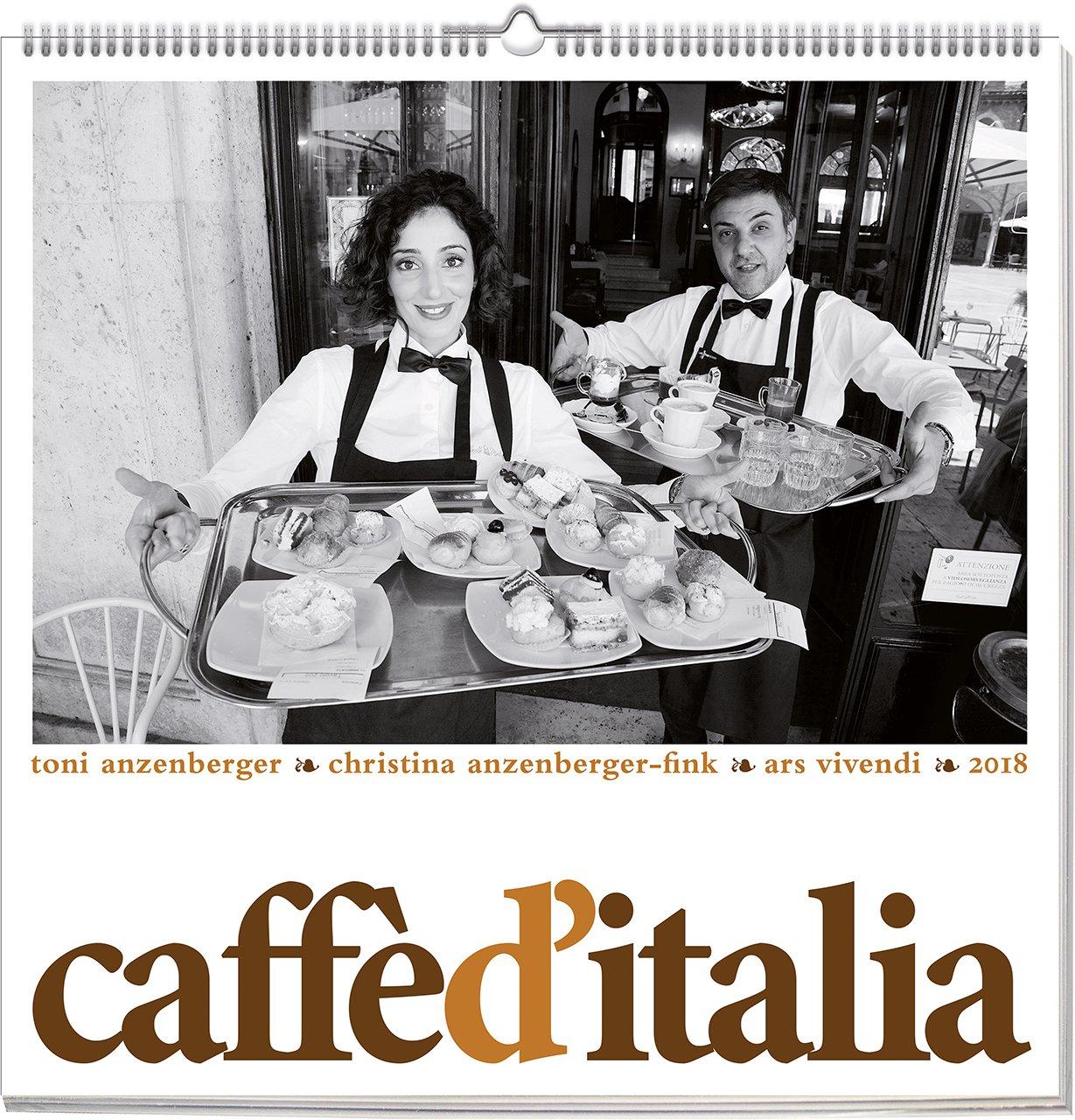 Caffè d´Italia 2018: vierfarbiger Wandkalender. Format 50 x 50 cm
