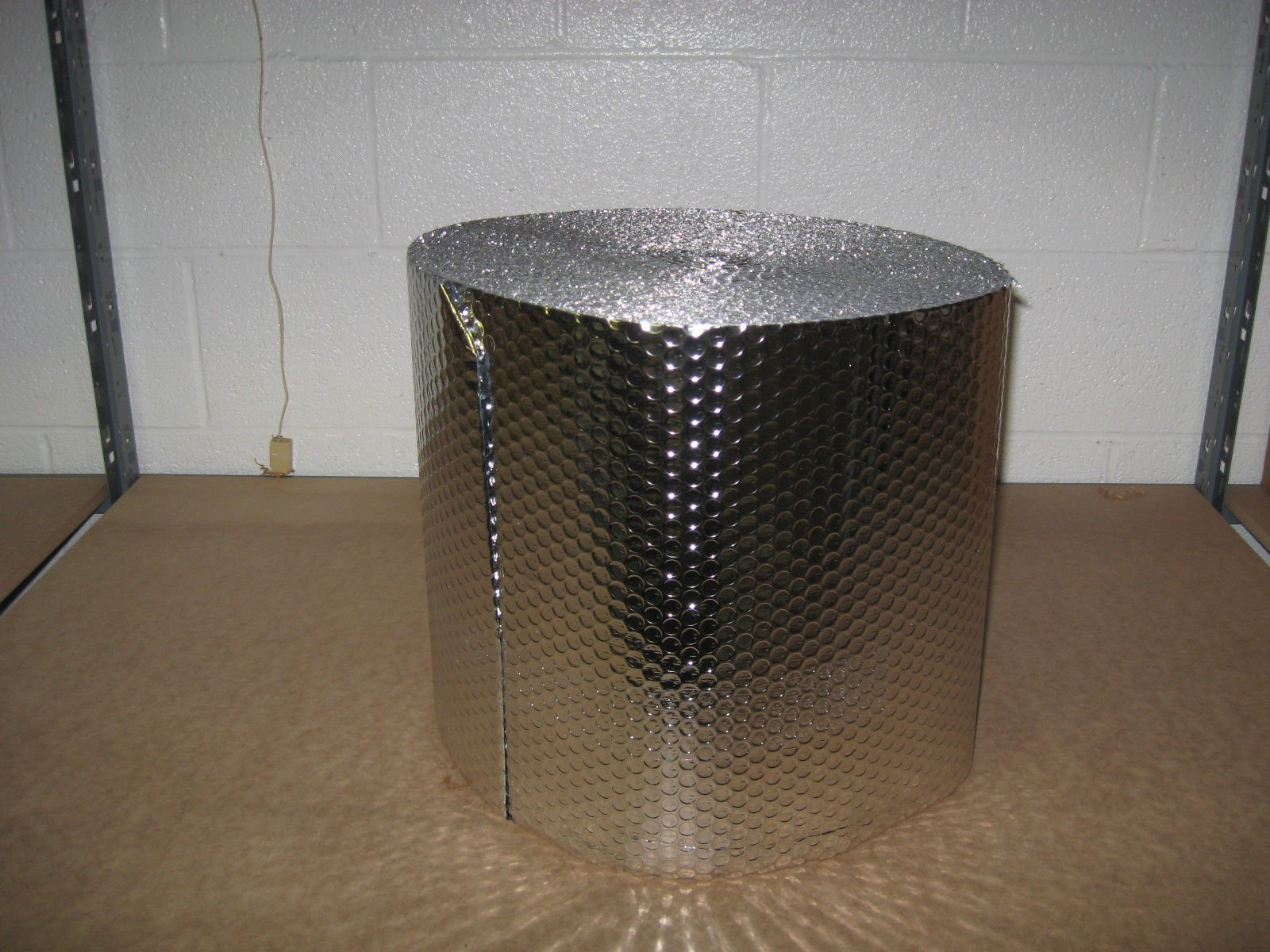 1/8'' Insulated Metalized Mylar Double Foil Bubble Wrap, 16'' X 125' Per Roll