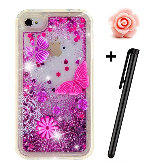 the best attitude 53d87 3778f iPhone 5C Case,iPhone 5C Liquid case,TOYYM 3D Creative Glitter Liquid Bling  Transparent Sparkle Floating Soft TPU Case Cover for Apple iPhone ...