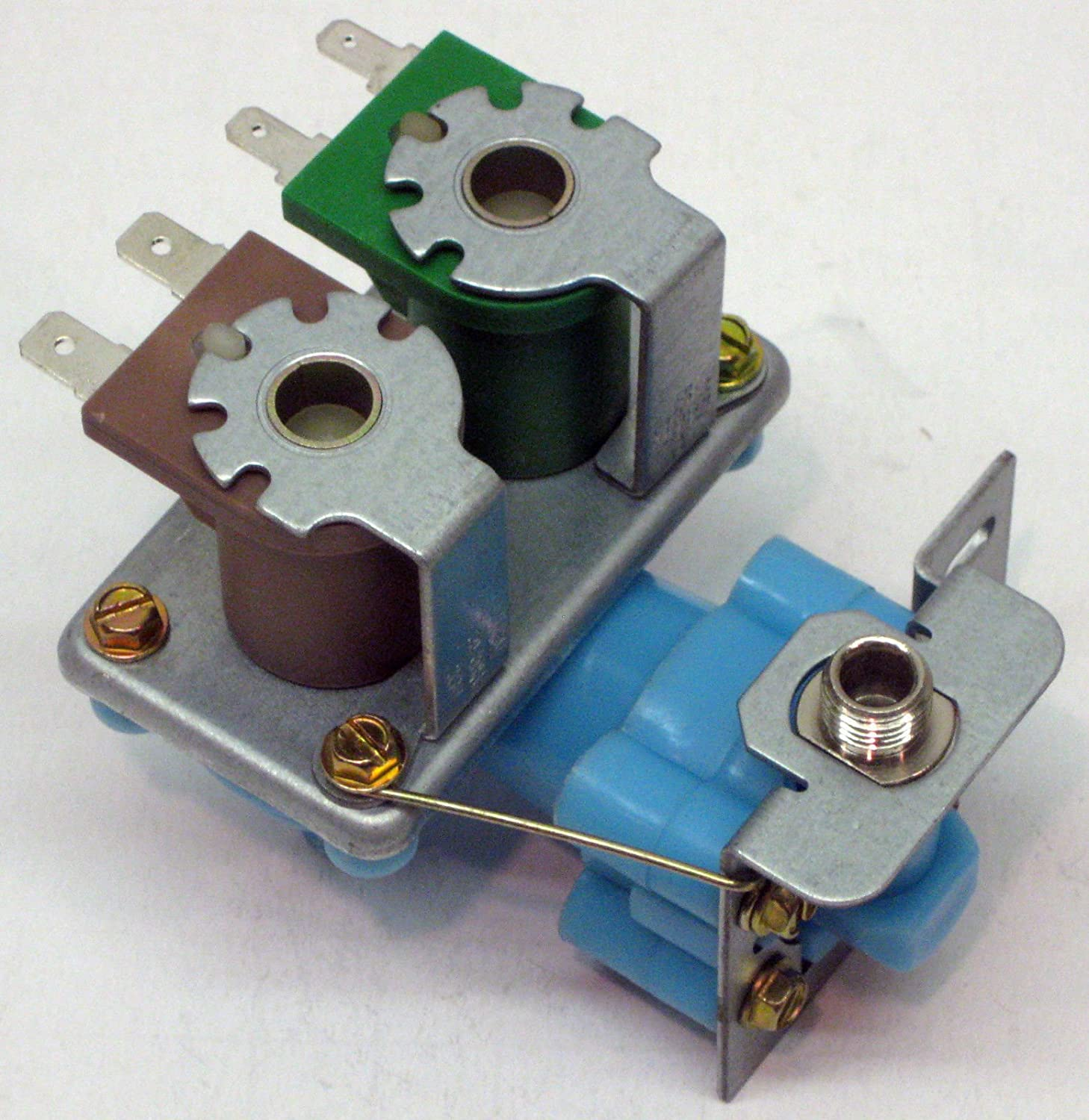 KAS Double Coil Icemaker Water Fill Valve for Whirlpool Kenmore Refrigerator Icemaker 4318046 WV8046 2188542